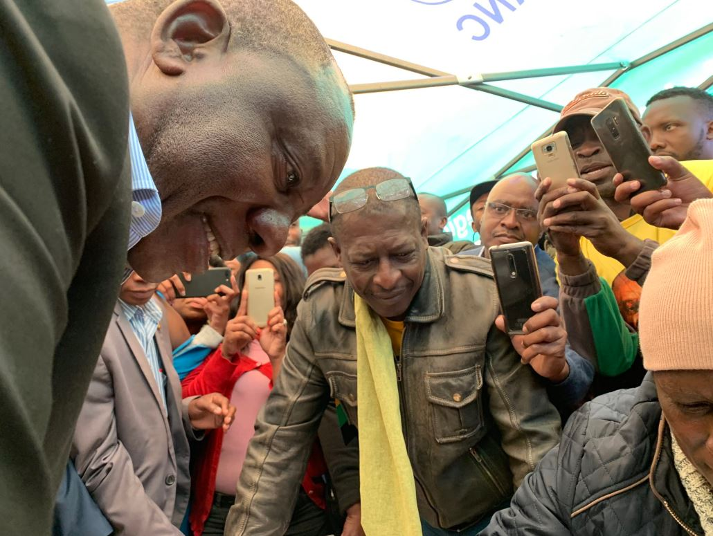 President Cyril Ramaphosa checks that his name is on the voters roll - Election 2019
