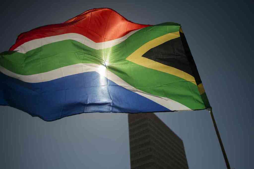 The South African flag.