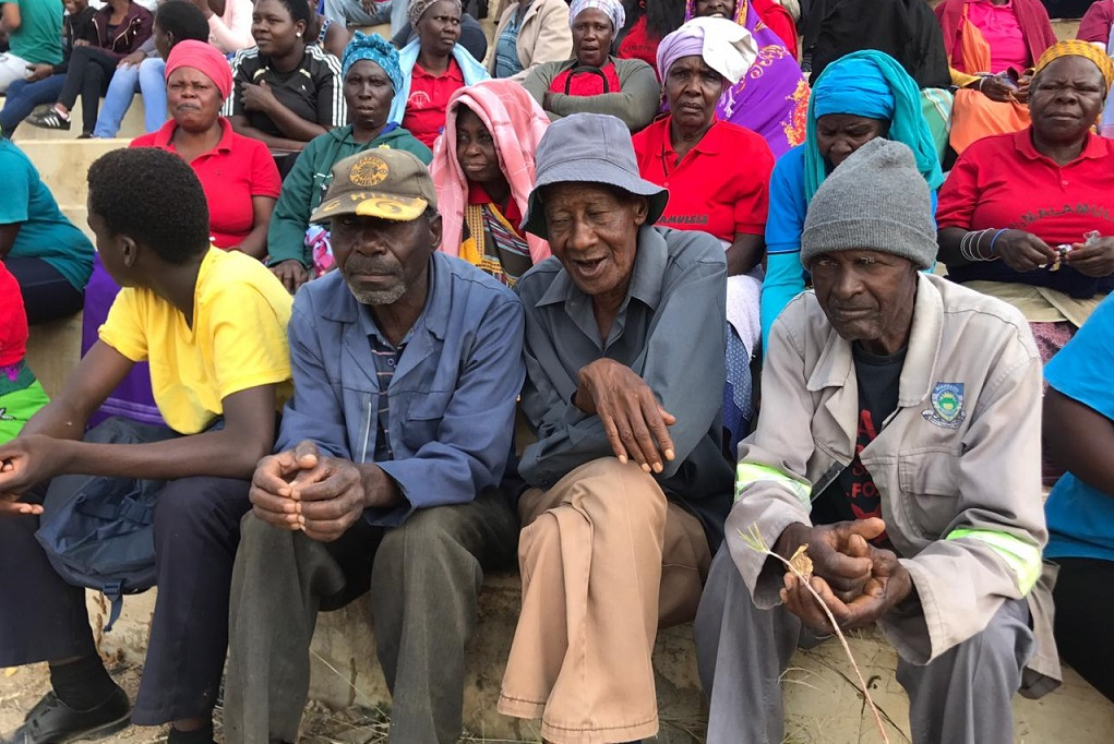 Elderly Vuwani residents attend a mass meeting ahead of 2019 election