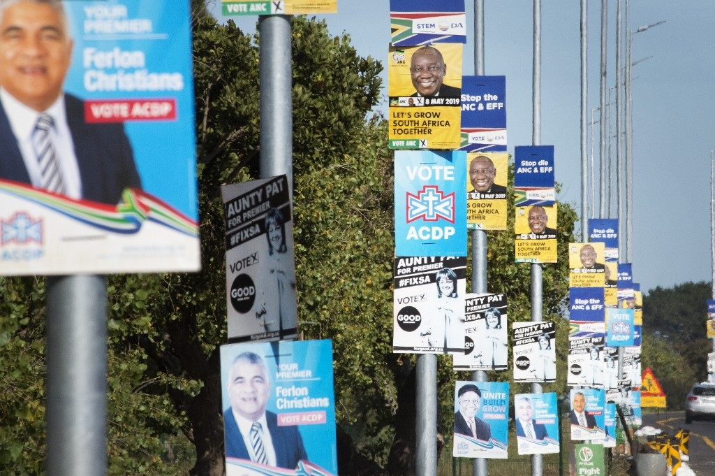 Election posters ahead of the 2019 polls