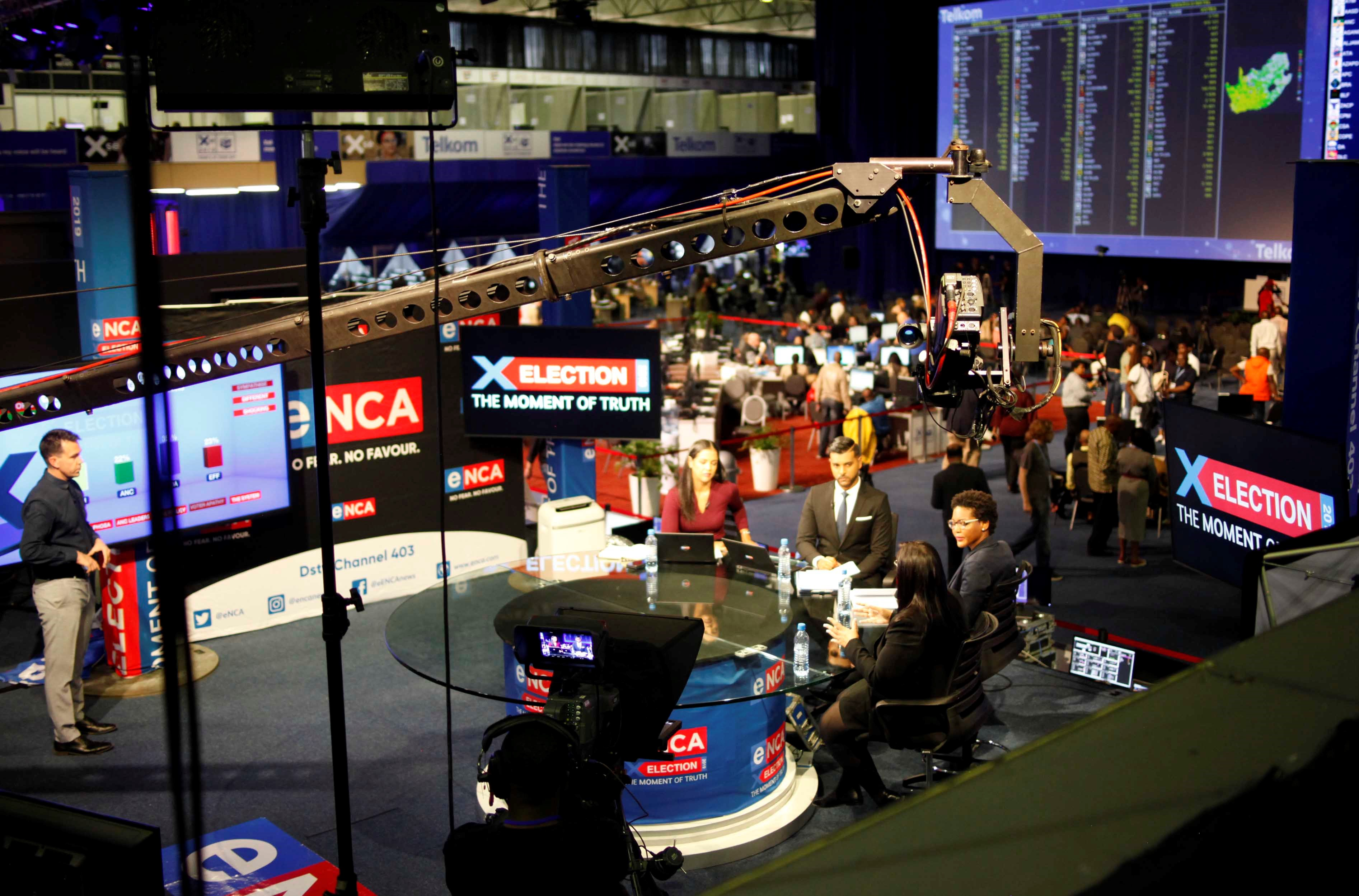 eNCA Studios at the ROC for Election 2019