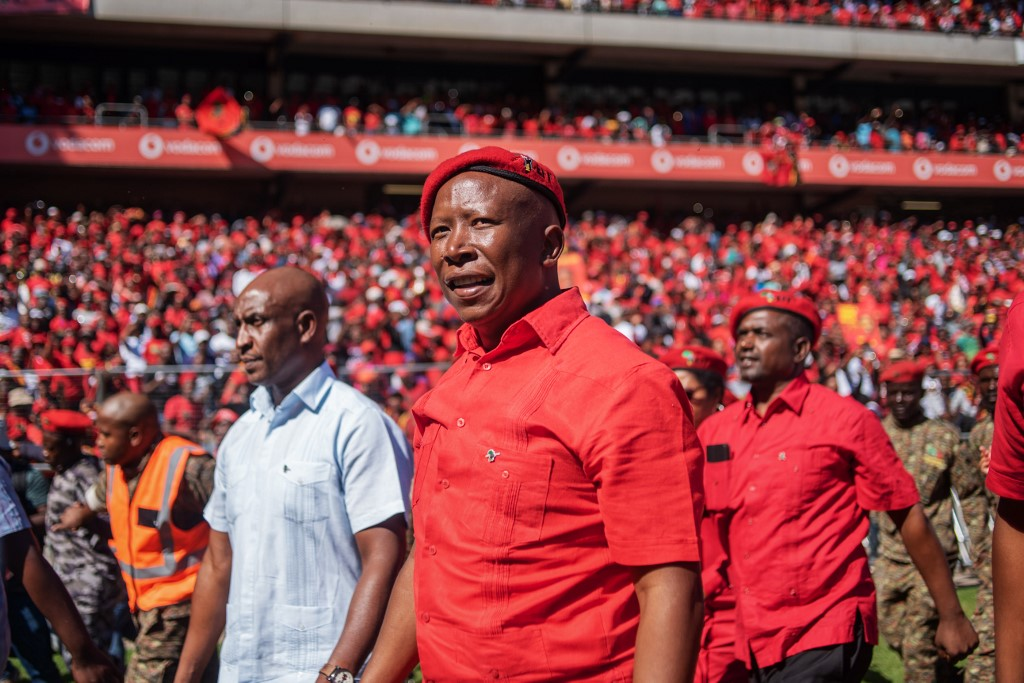 Julius Malema at the EFF's final election rally 2019