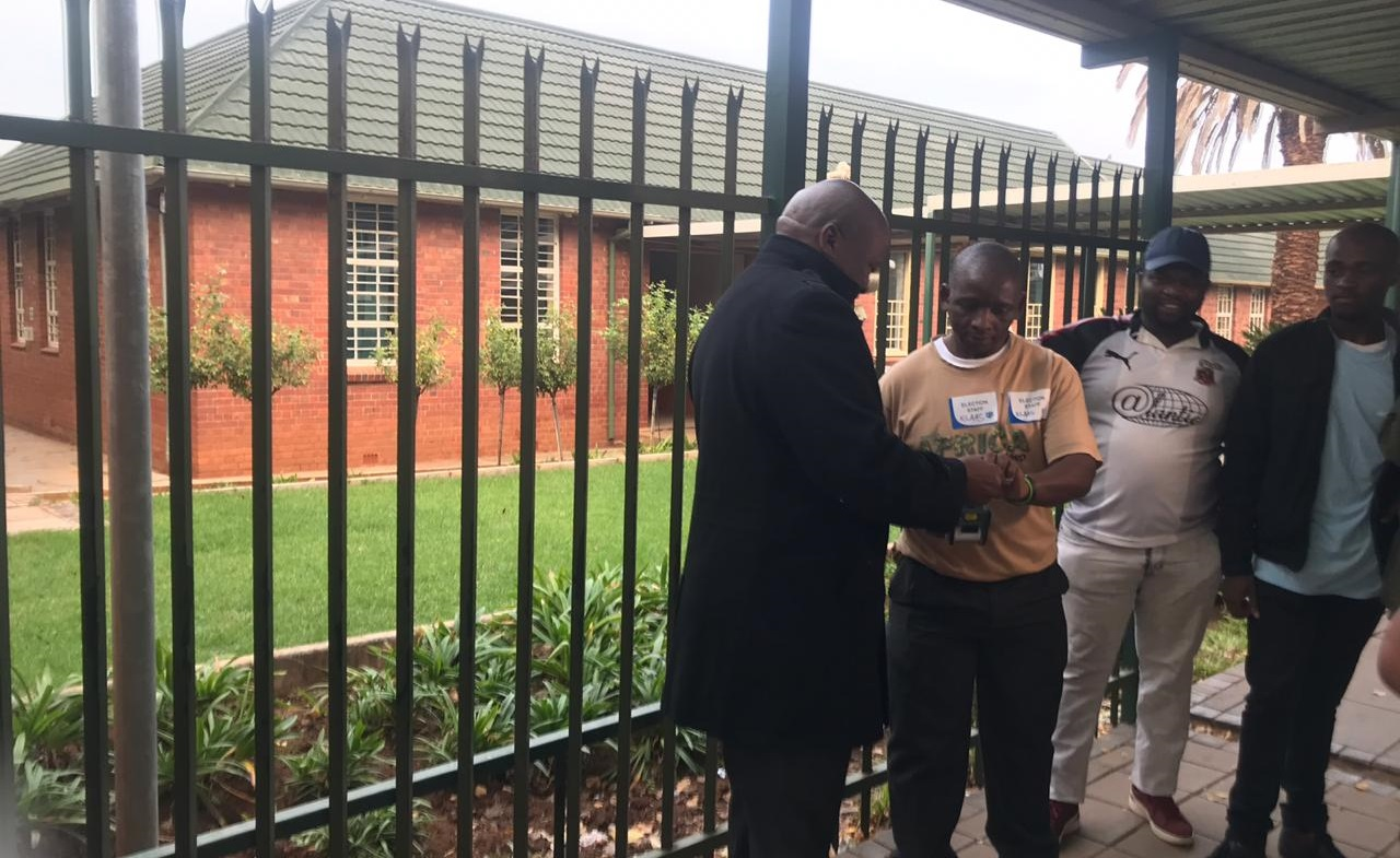 UDM leader Bantu Holomisa at a polling station for Election 2019