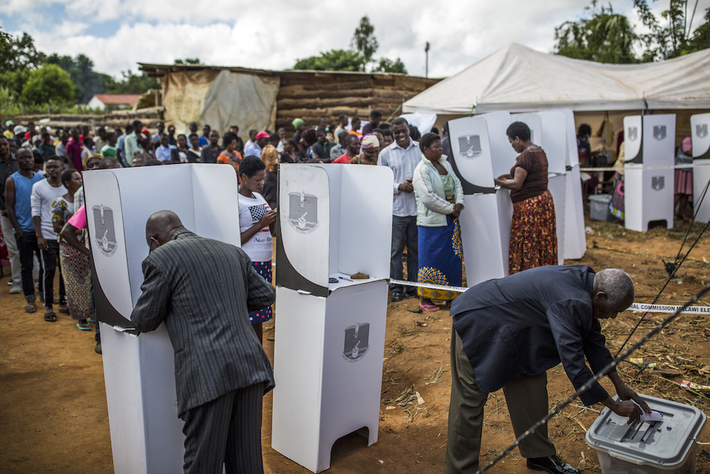 Malawi polls opened on 21 May after a closely-fought election campaign.