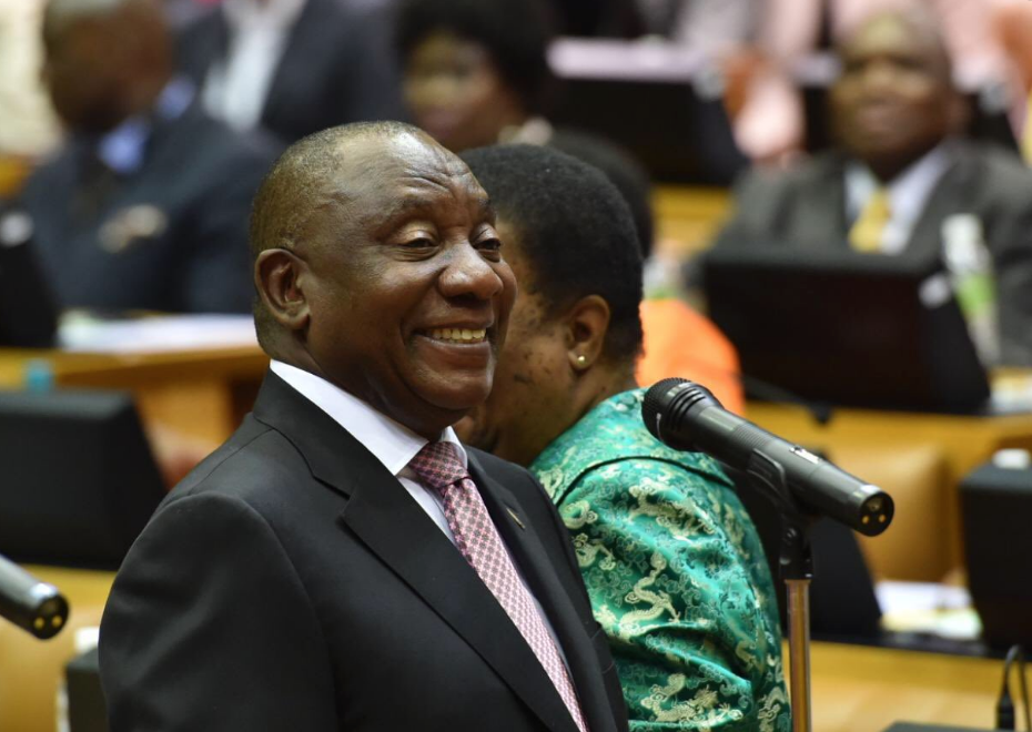 President Cyril Ramaphosa is due to be elected to remain president.