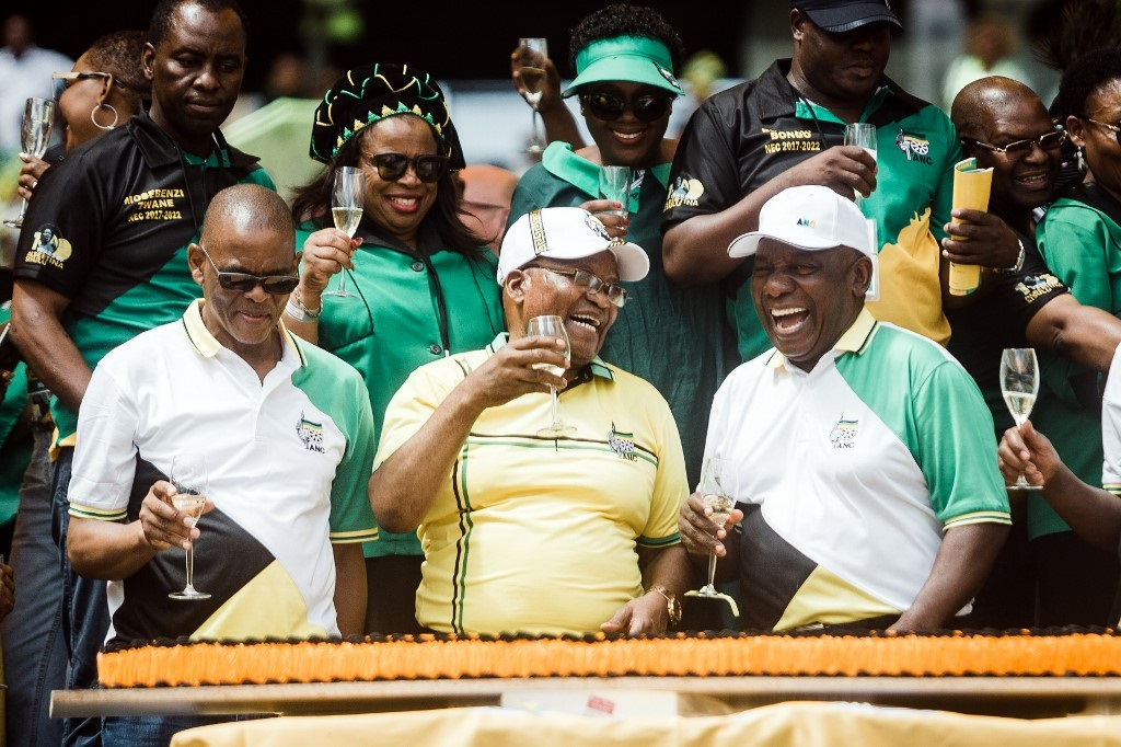 Zuma and Ramaphosa at ANCs 107th anniversary