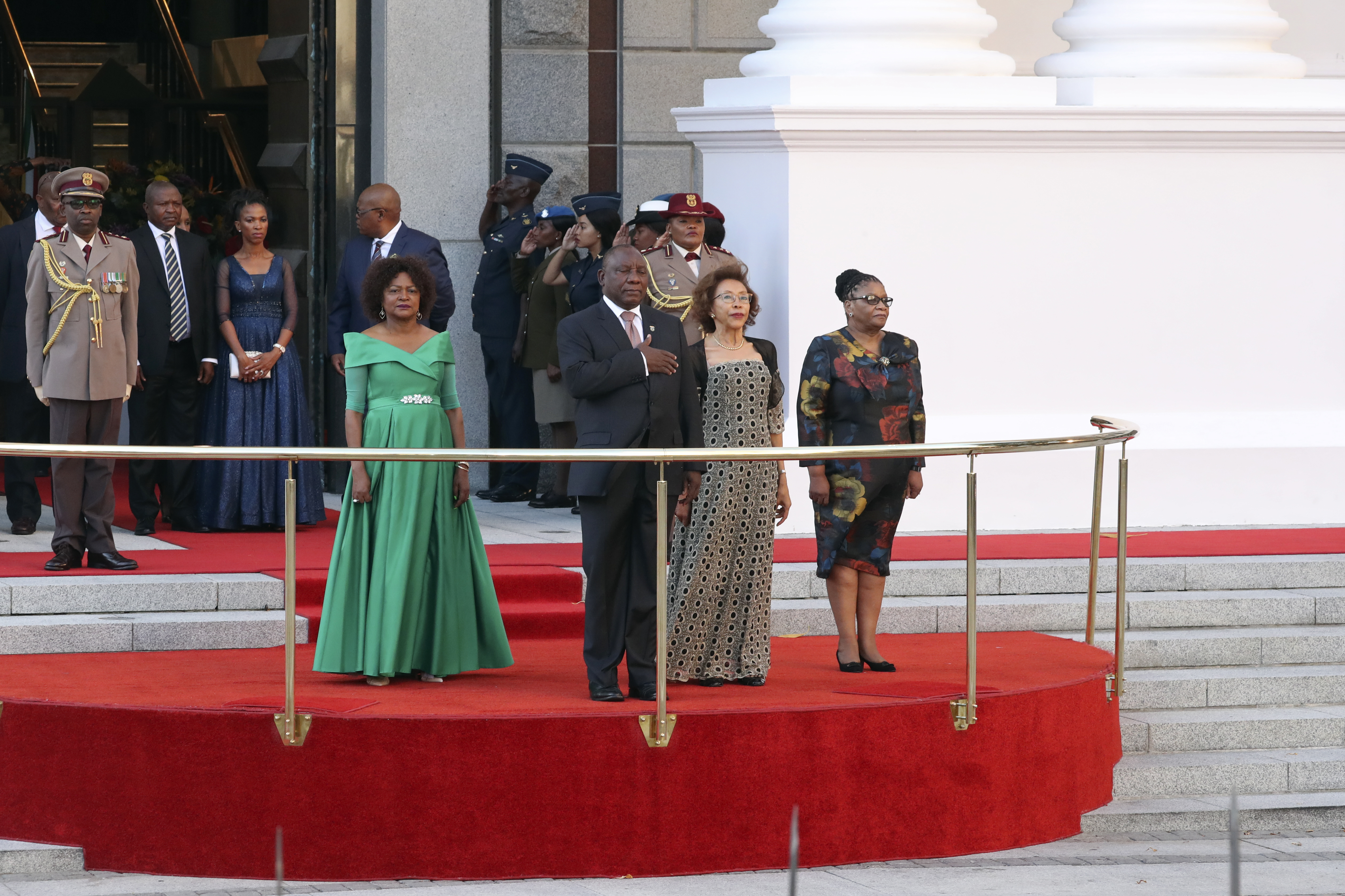 The opening of parliament ceremony and State Of The Nation Address (SONA) in parliament, Cape Town.