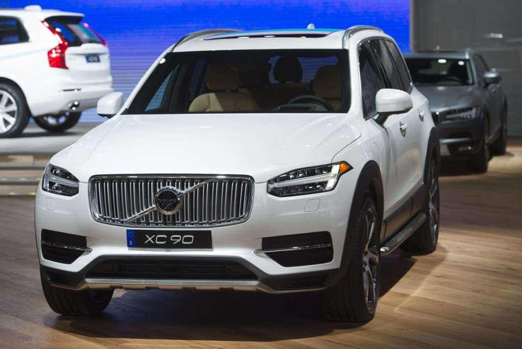 The Volvo XC90 SUV is seen during the 2017 North American International Auto Show in Detroit, Michigan.