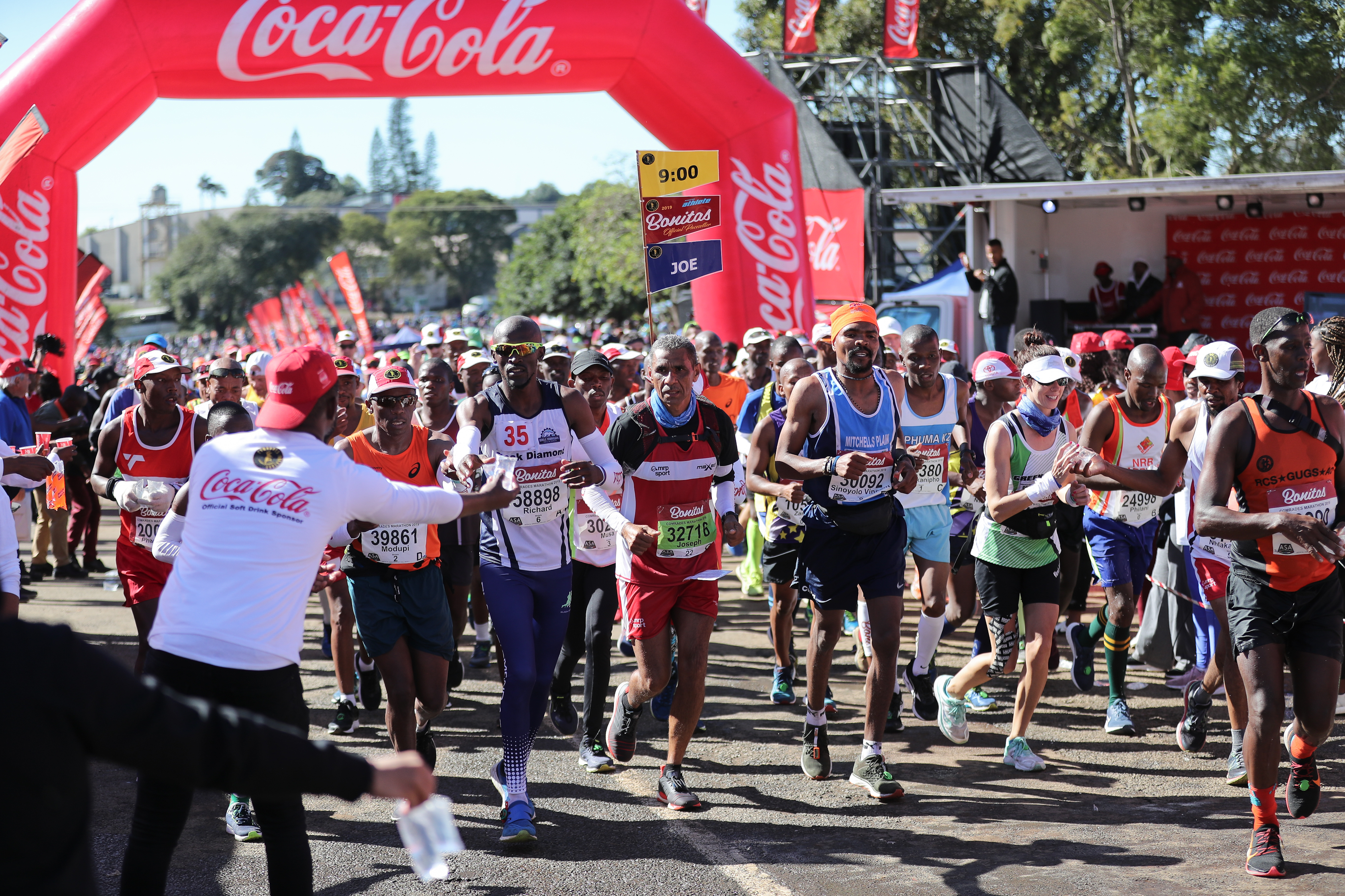 General view of activities during the Coca-Cola On-Route Activation at the 94th Comrades Marathon on June 09, 2019 in Durban, South Africa.