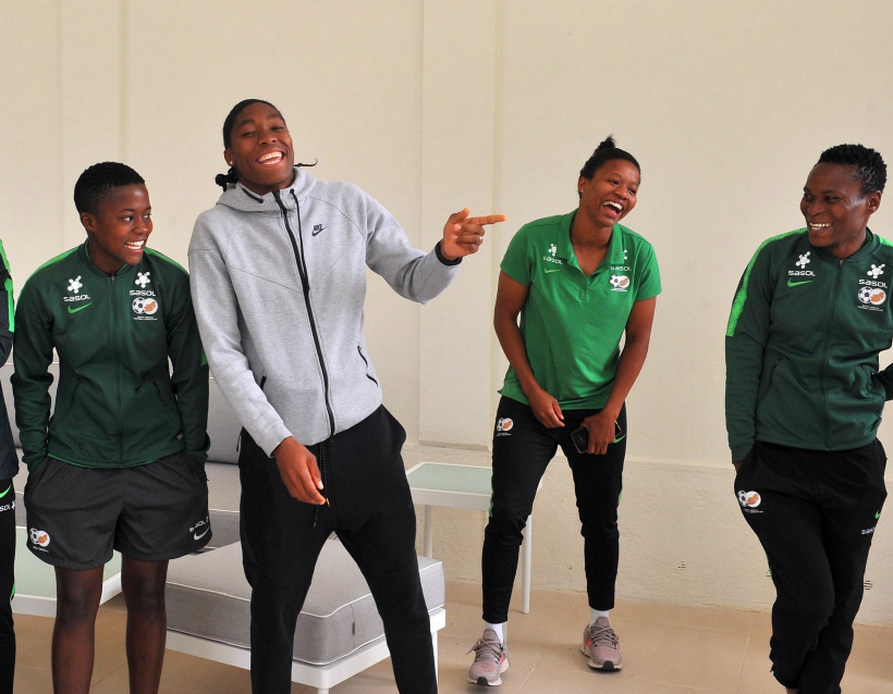 Caster Semenya visited the Banyana Banyana squad ahead during the recent World Cup tournament in France.