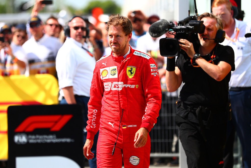 Sebastian Vettel was punished after making a mistake in Sunday's race in Montreal.