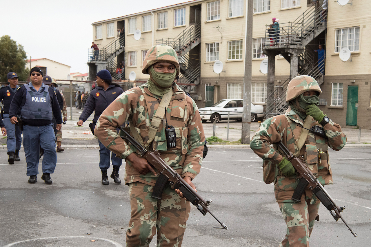 At least nineteen rifles were stolen from the Lyttelton military base in Pretoria.