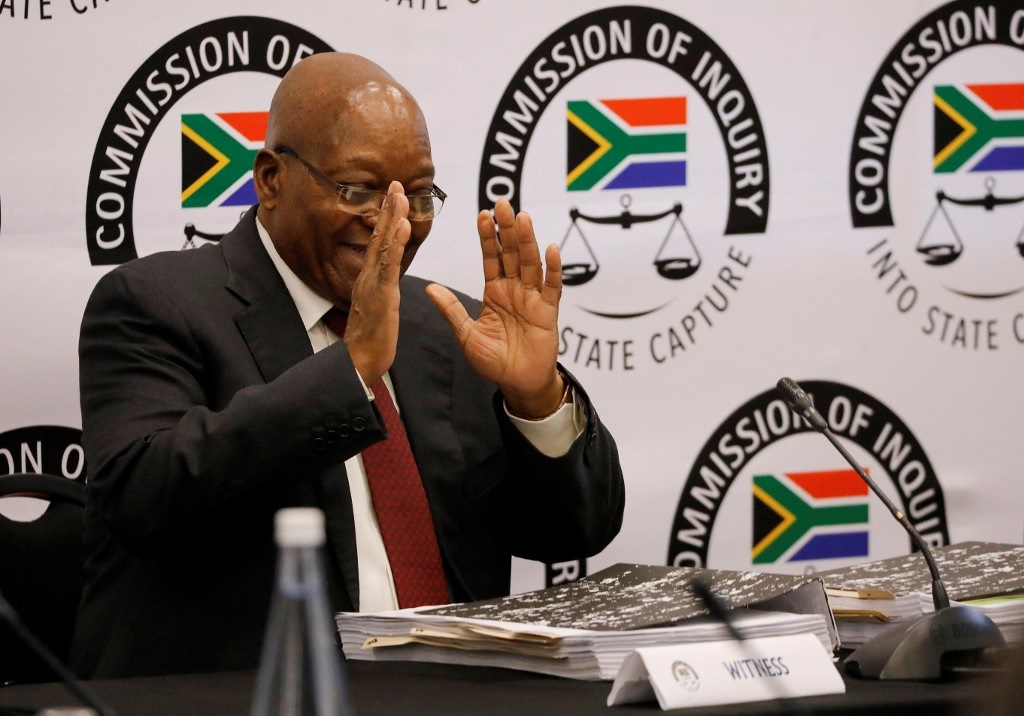 Former President Jacob Zuma at the State Capture Commission on 17 July 2019