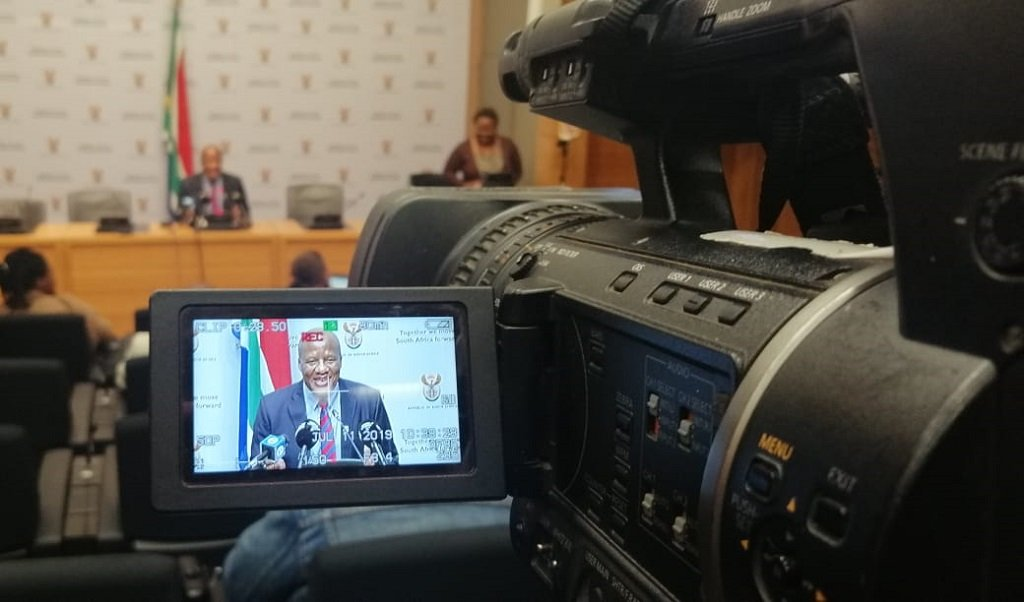 Post Cabinet briefing with Jackson Mthembu on 11 July 2019