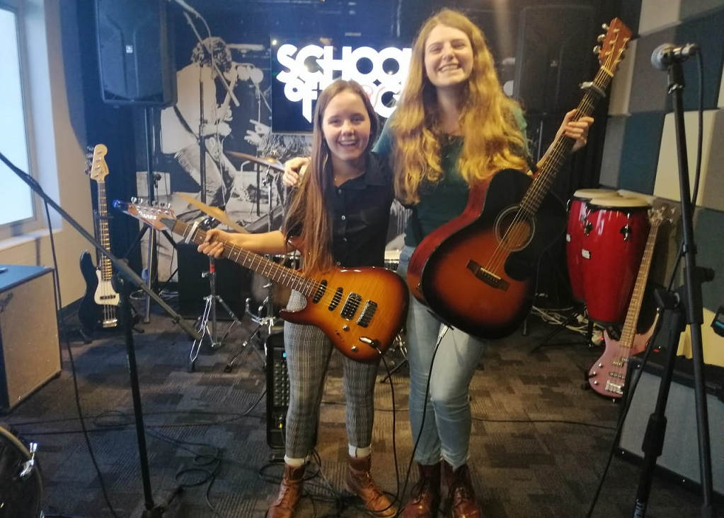 Cape Town School of Rock Shandy Sarantos and Rose Bruce