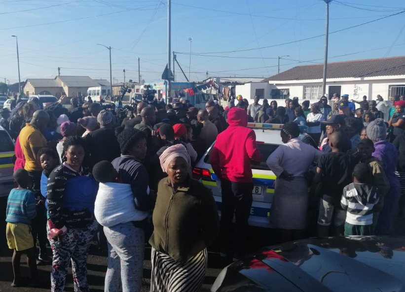 Philippi residents gathered to hear what Police Minister Bheki Cele had to say.