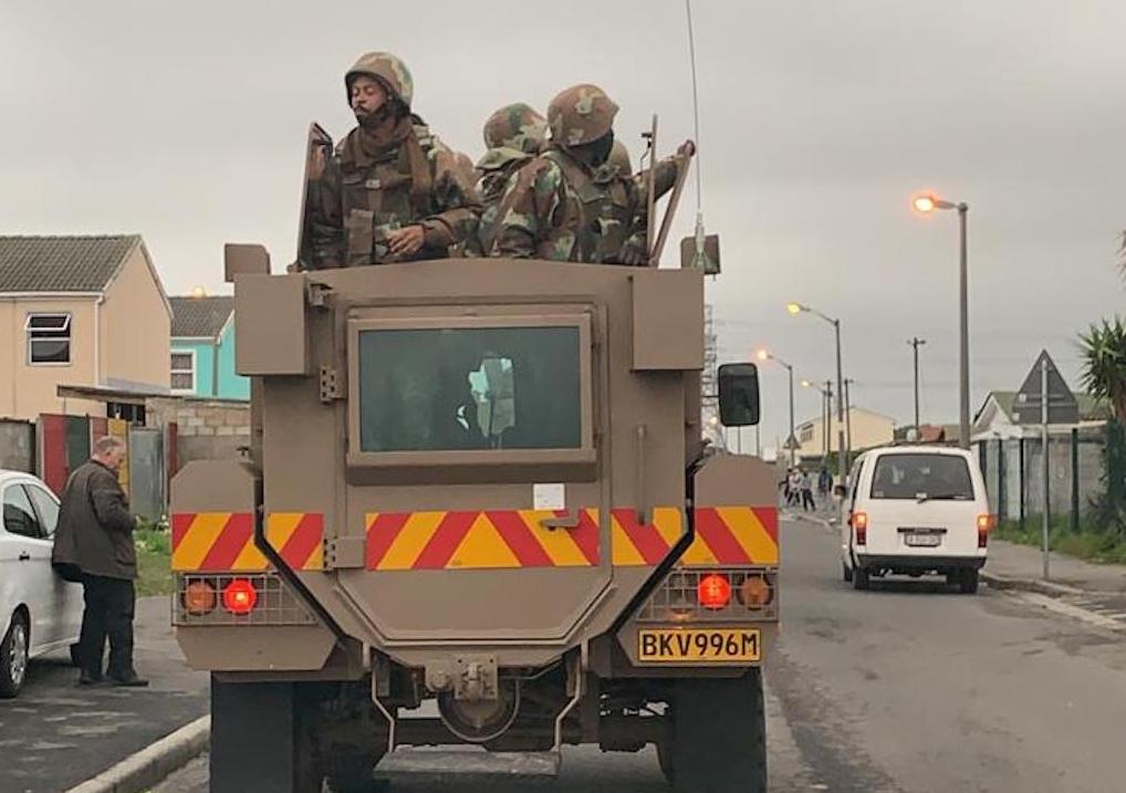 The SANDF has been deployed in Manenberg in Cape Town on Thursday.