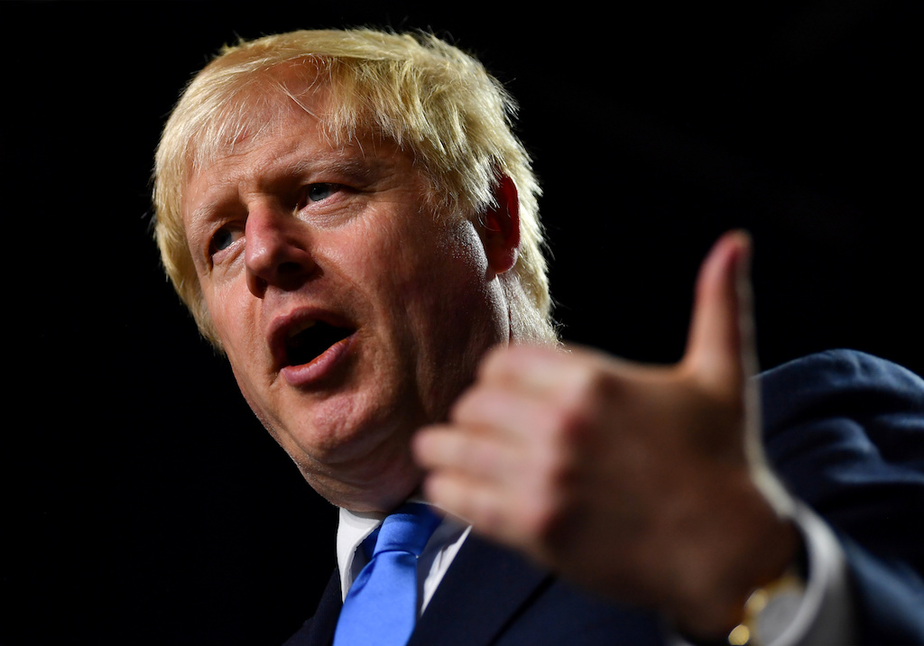 File: Britain's Prime Minister Boris Johnson developed mild symptoms and tested positive for coronavirus.