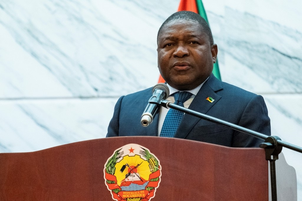 File: Mozambique's President Filipe Nyusi was re-elected to office last month in disputed polls.