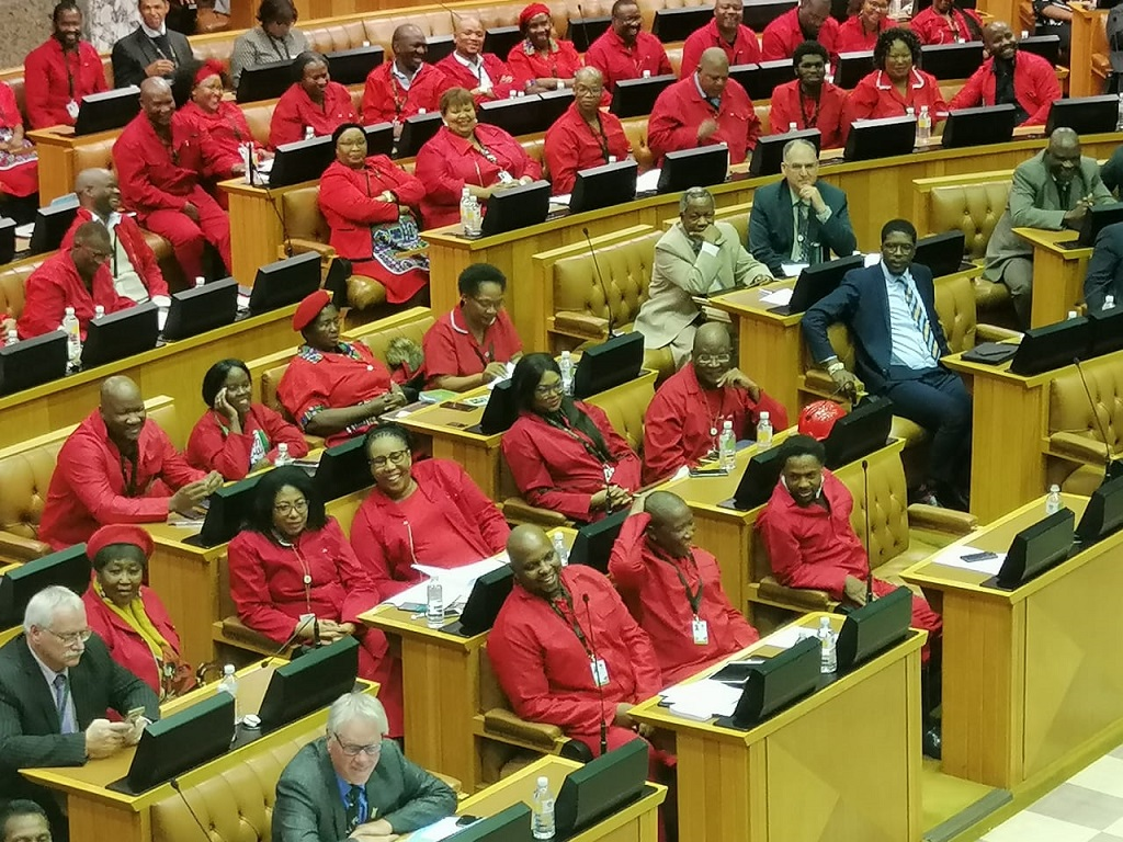 EFF during President Cyril Ramaphosa Q&A August 2019