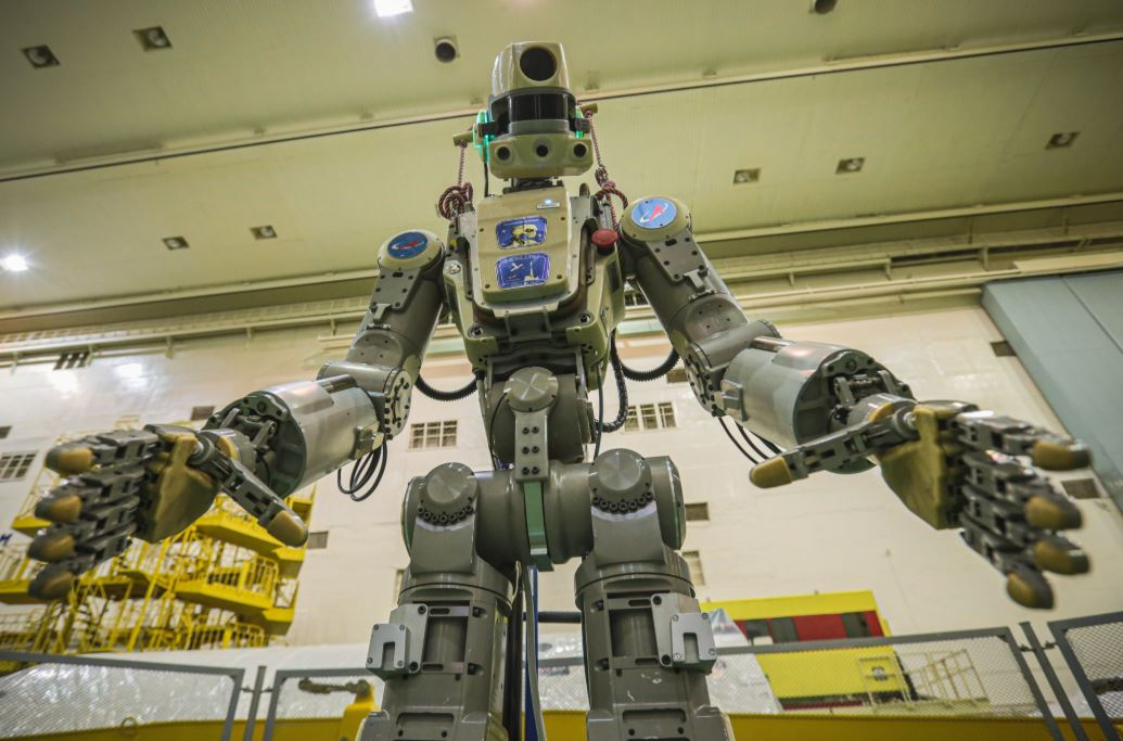 Known as FEDOR, the Skybot F-850 is the first humanoid robot to be sent to space by Russia.
