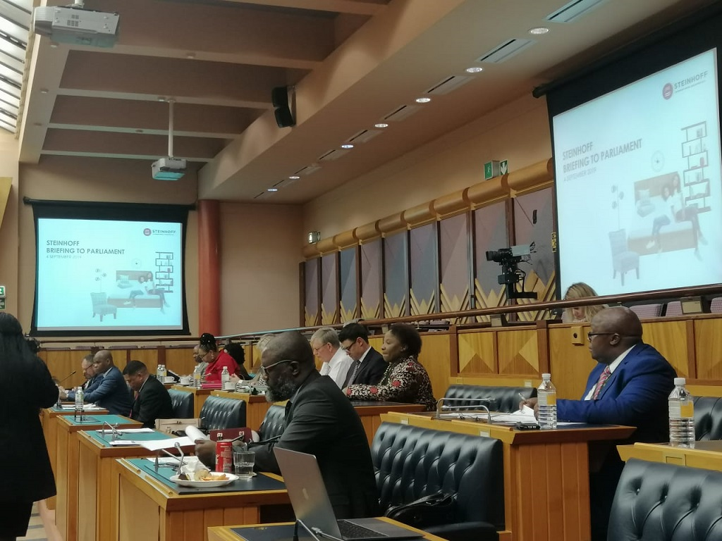 MPs get an update on the investigation into Steinhoff September 2019