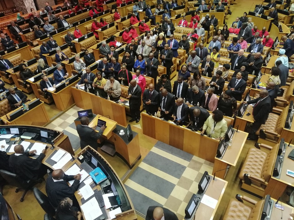 File: President Cyril Ramaphosa will deliver the state of the nation address in Parliament.