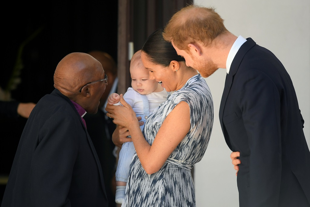 Baby Archie makes rare public appearance in South Africa
