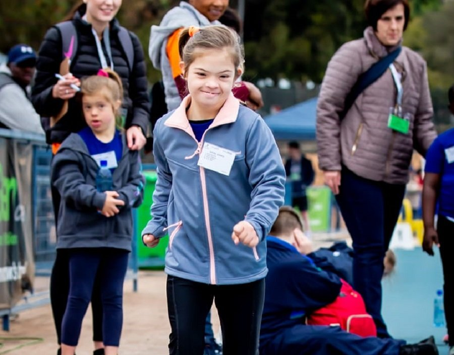Down Syndrome athletics meeting September running