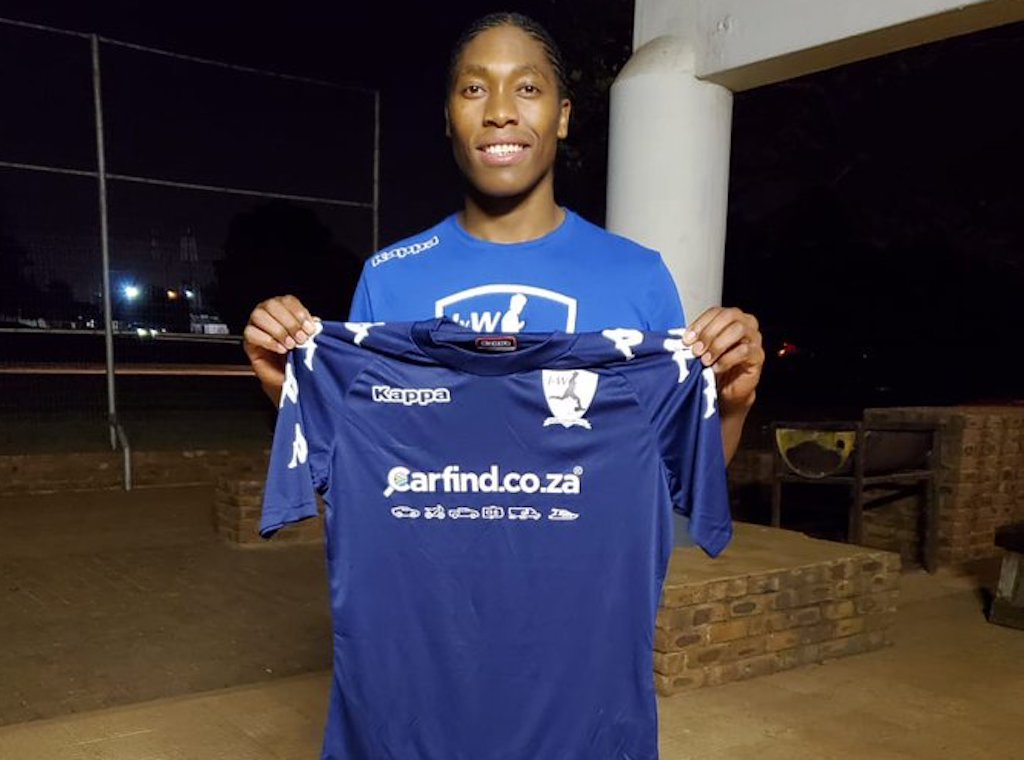 Athletics superstar, Caster Semenya has turned her sights to the soccer pitch.