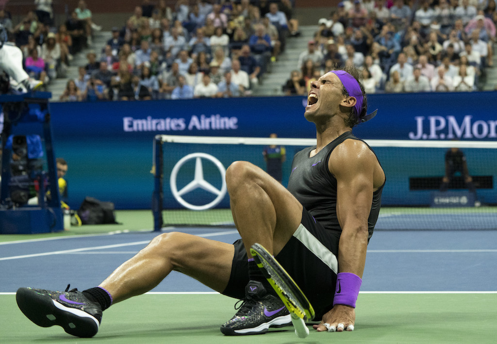 Rafael Nadal of Spain at the 2019 US Open at the USTA Billie Jean King National Tennis Center in New York on 8 September 2019.