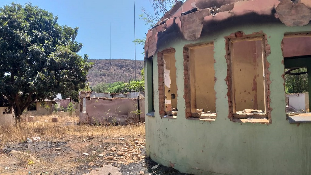 Mamelodi rondawels where Desmond Tutu went to school in a state of disrepair