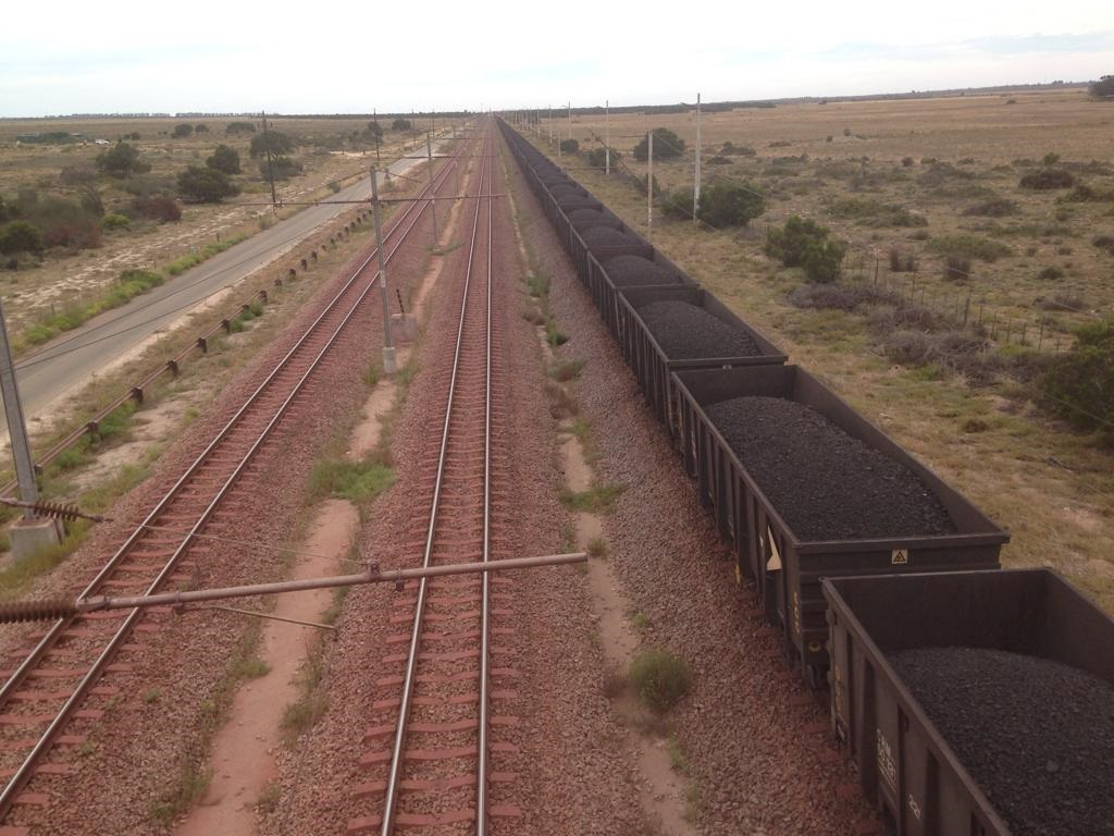 Transnet's longest train carrying manganese