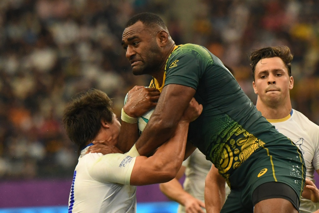 Tevita Kuridrani of Australia during the 2019 Rugby World Cup pool D match between Australia and Uruguay