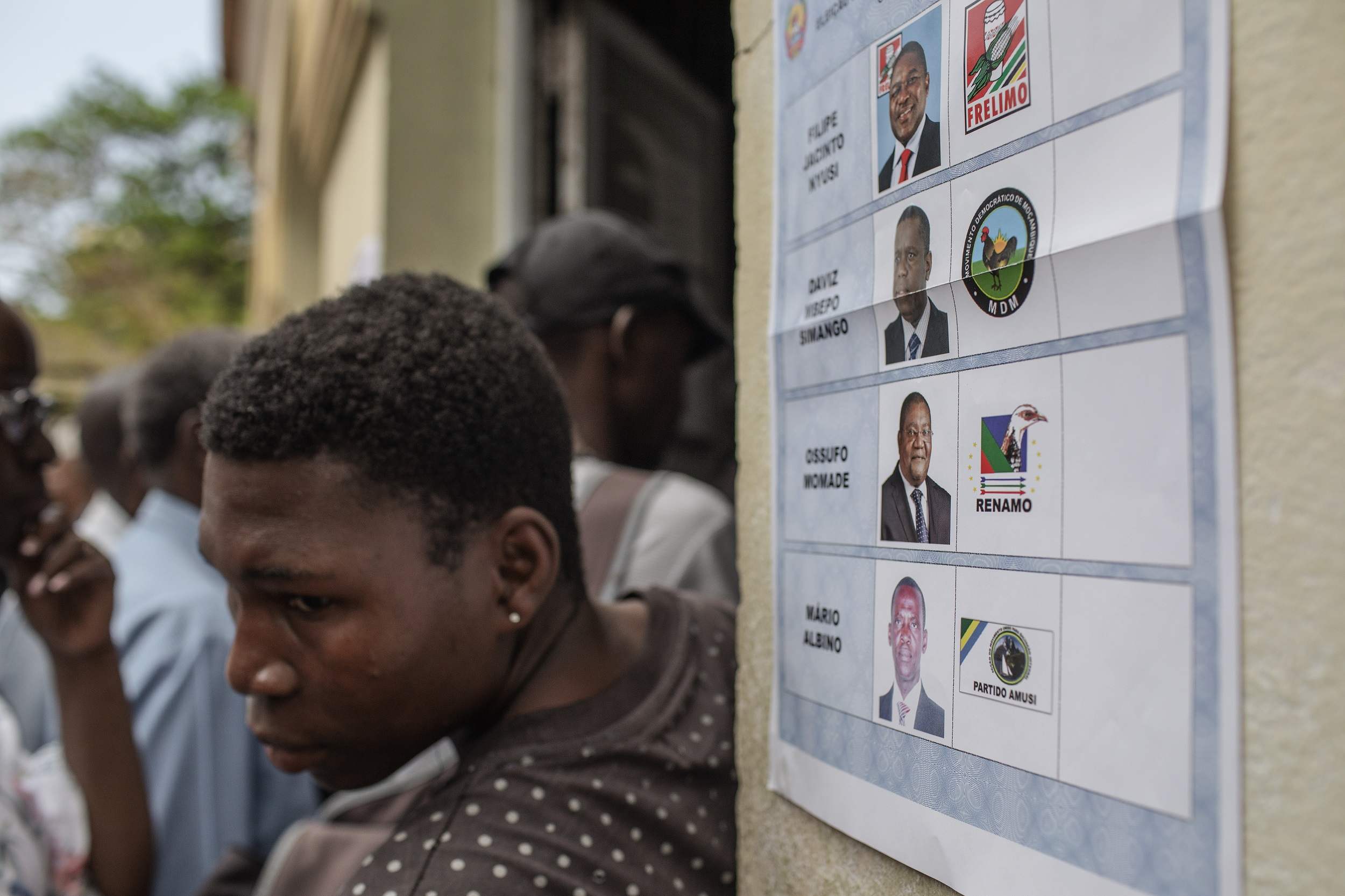 File: Partial tallies from the vote show President Filipe Nyusi and his Frelimo party dominating parliament, the legislative assemblies and all 10 provinces.