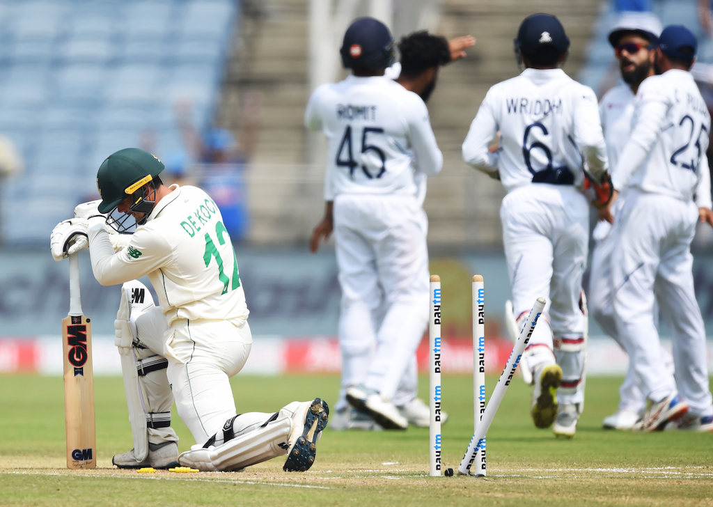 The Proteas, rebuilding after the retirement of several senior players, were outplayed in every aspect of both Tests so far.