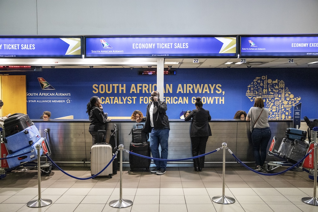 File: South African Airways is immediately suspending all international flights until the end of May due to the coronavirus pandemic.