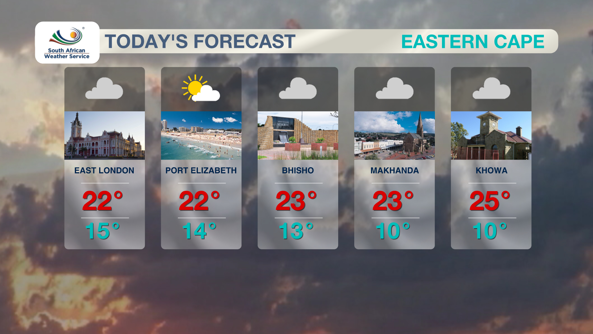 Eastern Cape Weather 4 November 2019