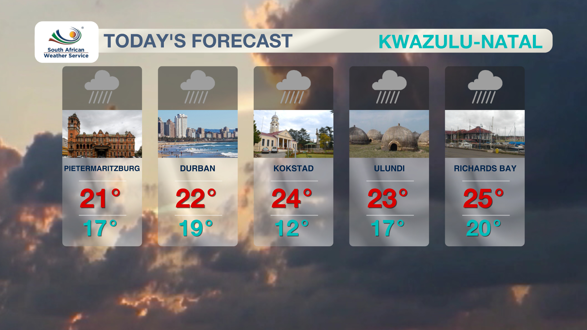 KwaZulu Natal Weather 4 November 2019