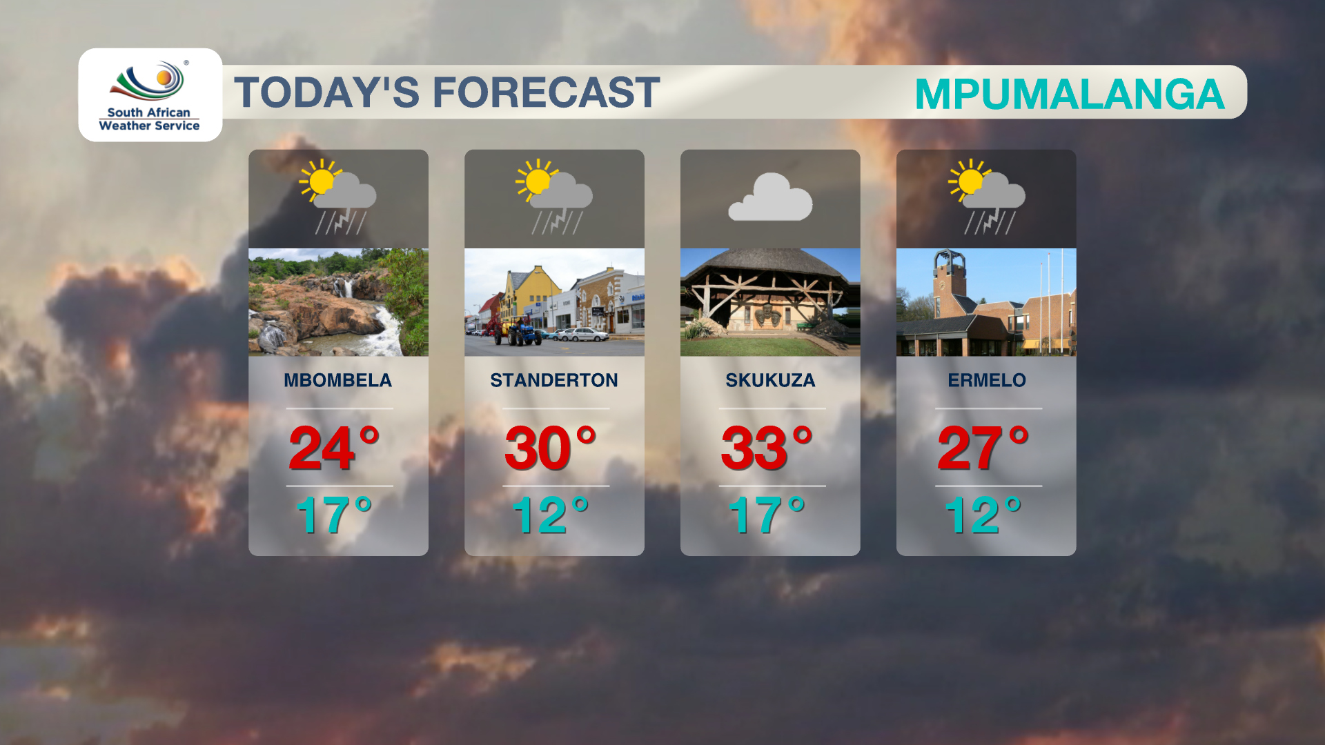 Mpumalanga Weather 4 November 2019