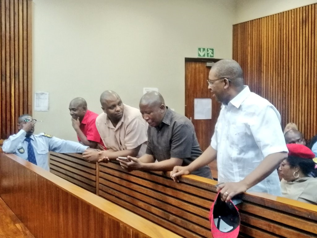 Julius Malema and Mbuyiseni Ndlozi appear in Randburg magistrates court