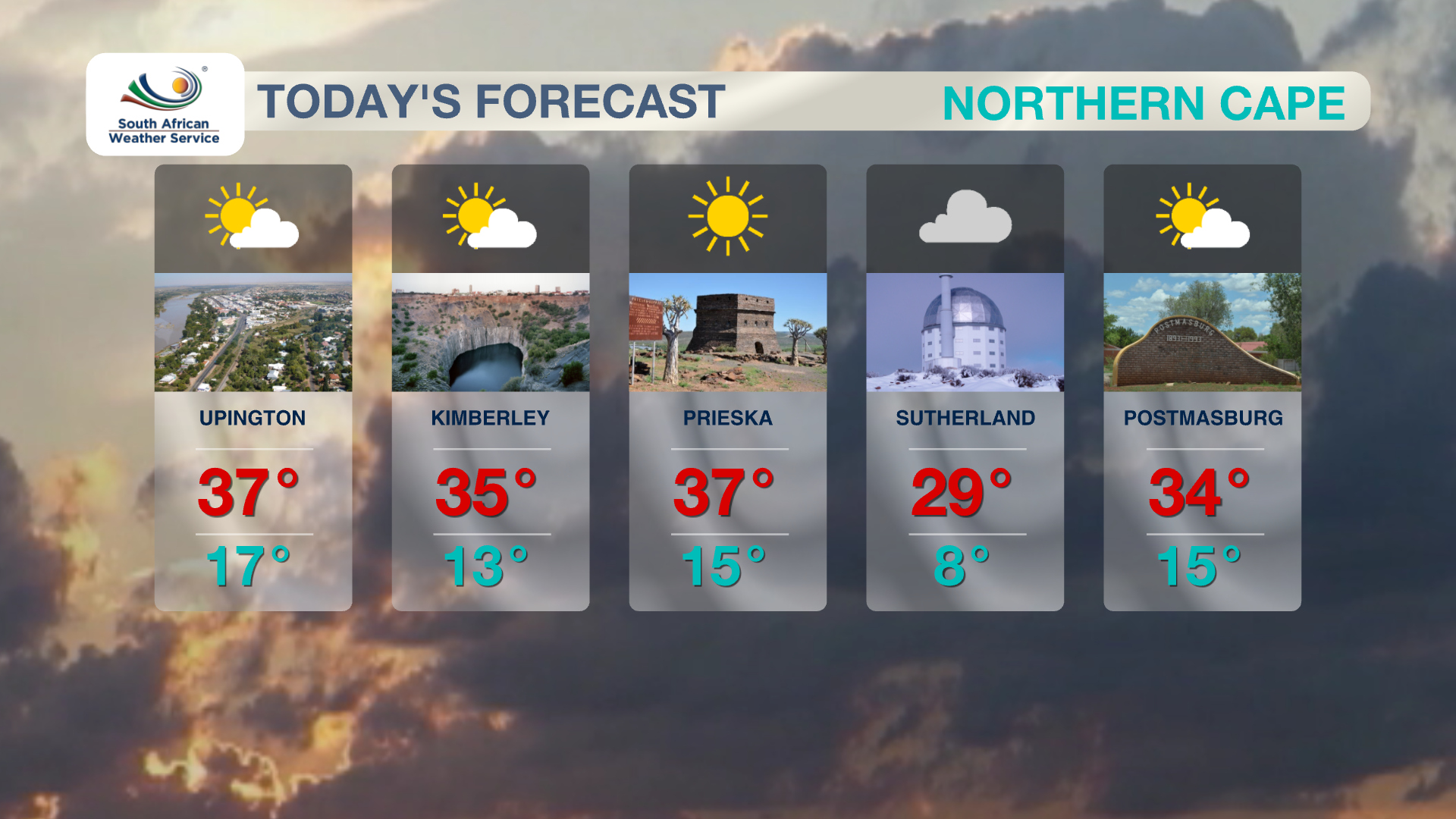 Northern Cape Weather 4 November 2019