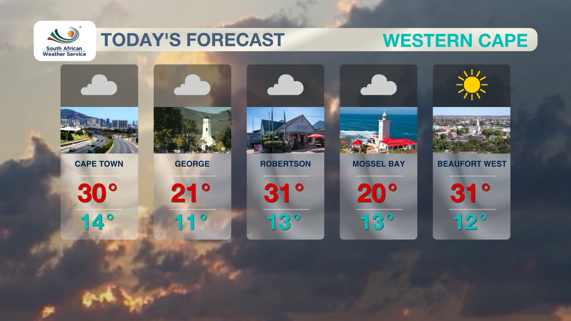 Western Cape Weather 4 November 2019