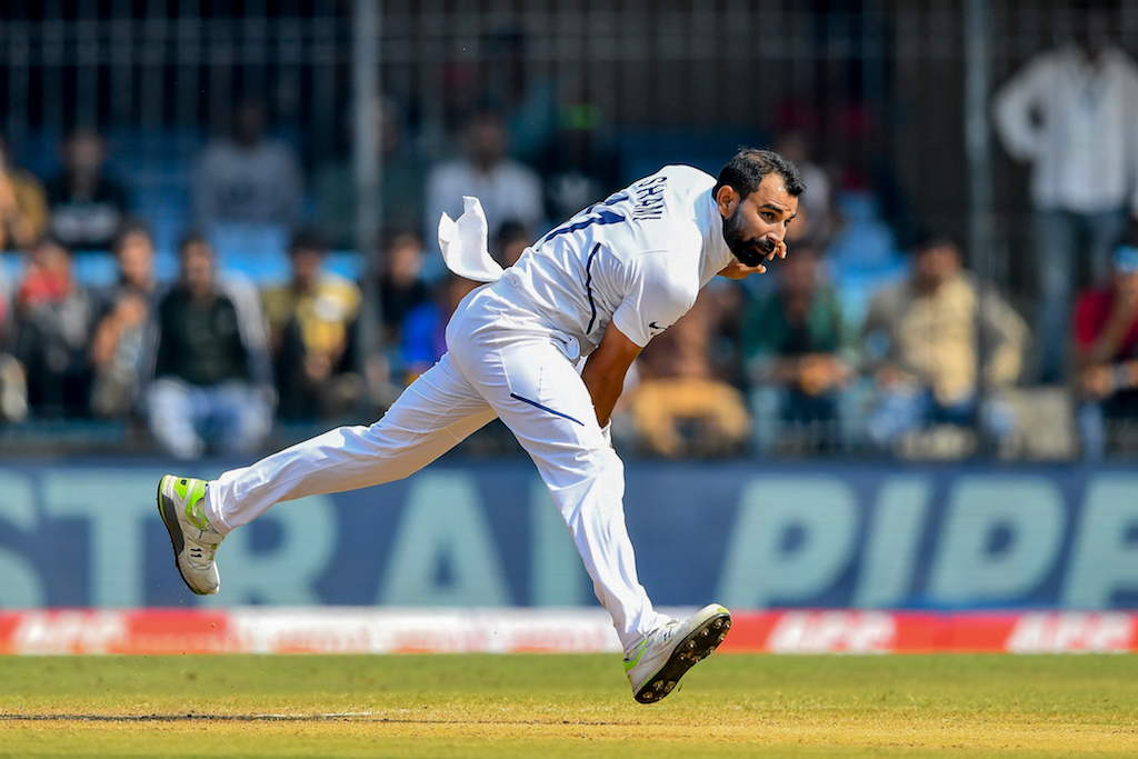Fast bowler Mohammed Shami improved his match tally to six wickets after lunch.