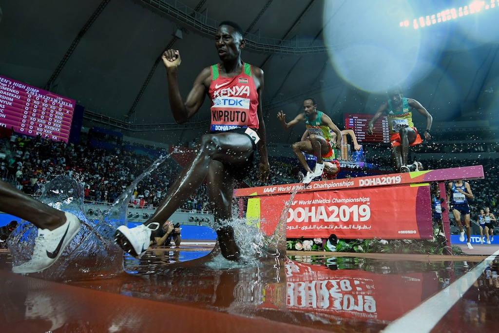 "File: The 3,000m steeplechase ranked ""towards the bottom"" in the research conducted, the IAAF said in a statement."