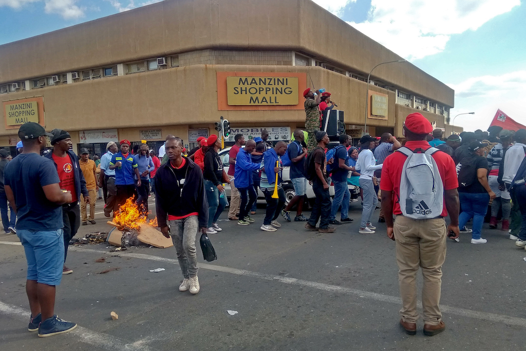 File: Civil servants rallied in eSwatini against the rule of King Mswati III, who they accuse of draining public coffers at the expense of his subjects.
