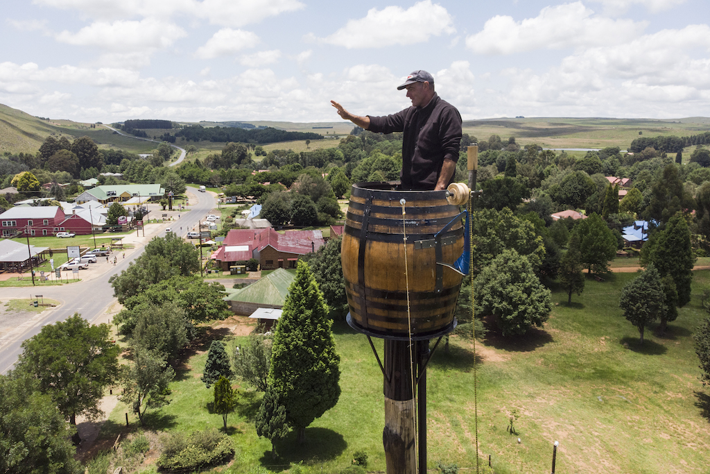 Overlooking Dullstroom, Vernon Kruger is about to break a Guinness World record set by himself in 1997.