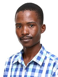 Bekithemba Qeqe, a post-graduate finalist from the University of Fort Hare.