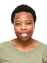 Chwayita Mkrola, a post-graduate finalist from the University of Fort Hare.