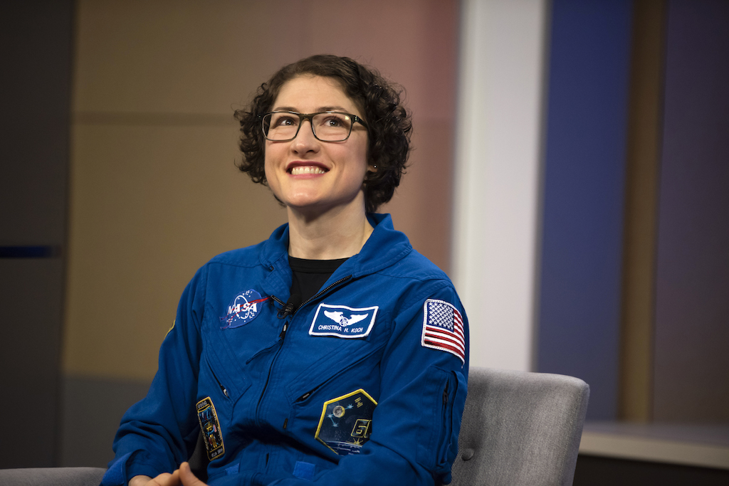 Christina Koch joined NASA's astronaut corps in 2013 and also who led the first all-female spacewalk in 2019.